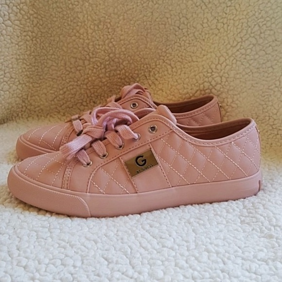 Guess Shoes | Pink Sneakers With Silver